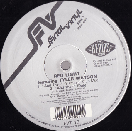 Red Light Featuring Tyler Watson - And Then