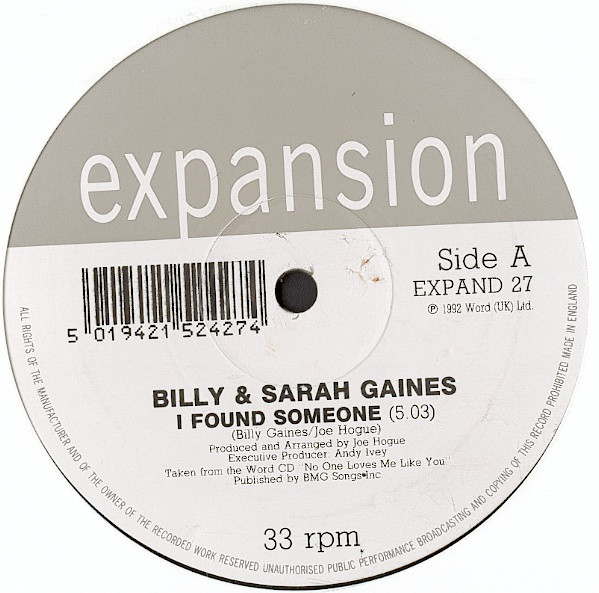 Billy & Sarah Gaines - I Found Someone / No One Loves Me Like You