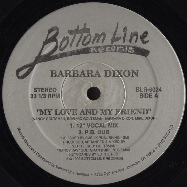 Barbara Dixon - My Love And My Friend