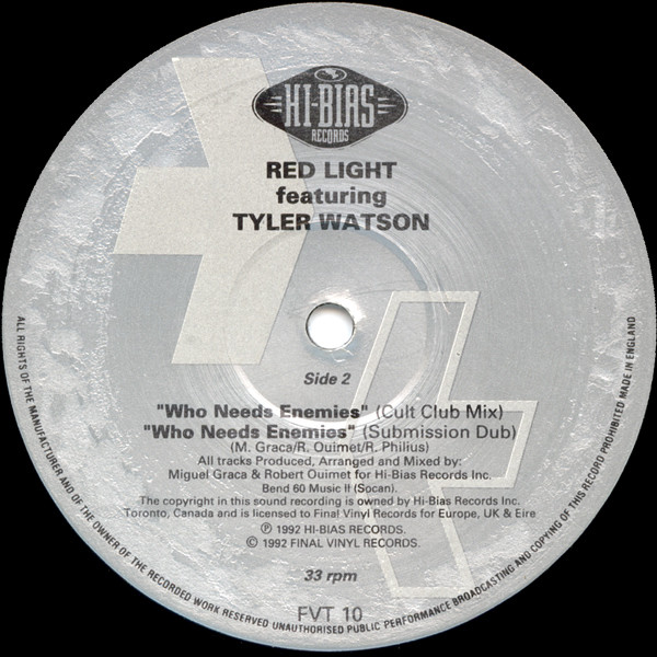 Red Light Featuring Tyler Watson - Who Needs Enemies