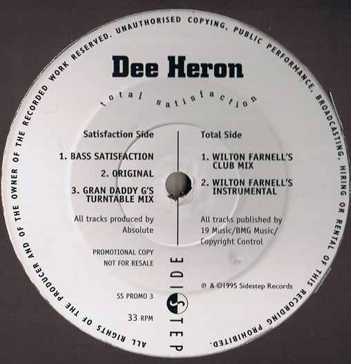 Dee Heron - Total Satisfaction