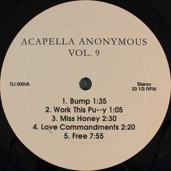 Various - Acapella Anonymous Vol. #9