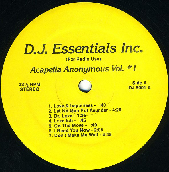 Various - Acapella Anonymous Vol. #1