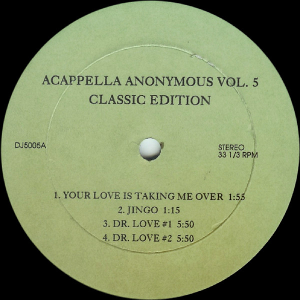 Various - Acappella Anonymous Vol. 5 (Classic Edition)
