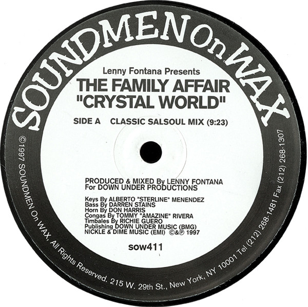 Lenny Fontana Presents The Family Affair -  Crystal World