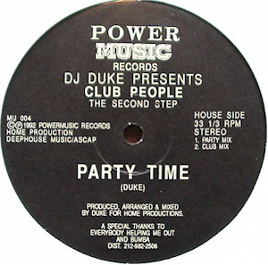 DJ Duke Presents Club People - Before Dawn / Party Time