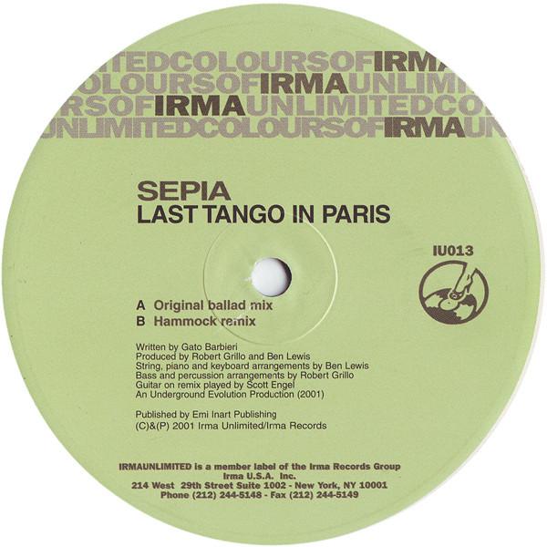 Sepia - Last Tango In Paris