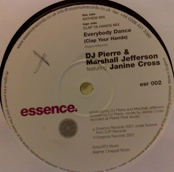 DJ Pierre & Marshall Jefferson Feat. Janine Cross - Everybody Dance (Clap Your Hands)