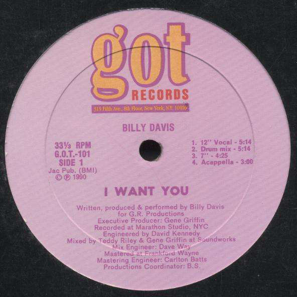 Billy Davis - I Want You