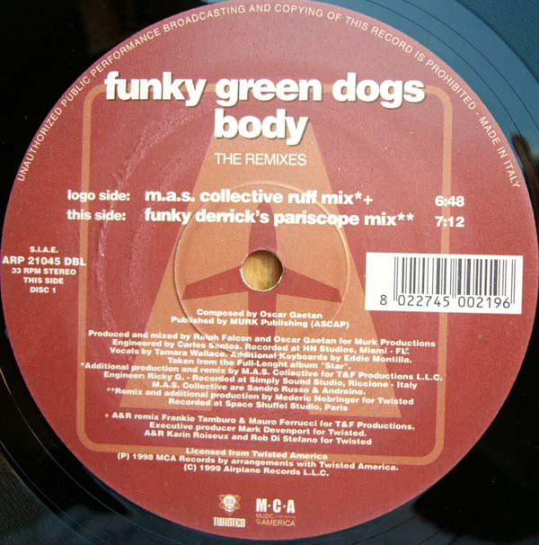 Funky Green Dogs - Body (The Remixes)