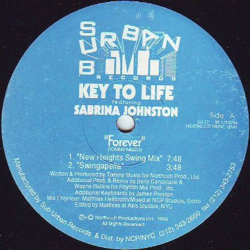 Key To Life Featuring Sabrina Johnston - Forever
