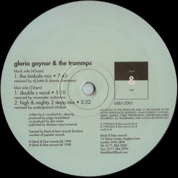 Gloria Gaynor & The Trammps - Mighty High