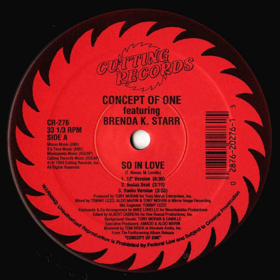 Concept Of One featuring Brenda K. Starr -  So In Love