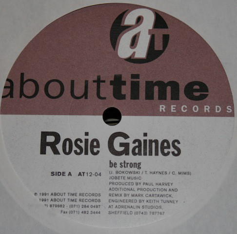 Rosie Gaines - Be Strong / I Only Wanna Be In Your Arms