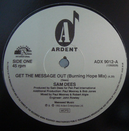 Sam Dees - Get The Message Out (Burning Hope Mix)