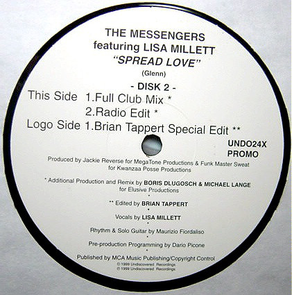 The Messengers Featuring Lisa Millett - Spread Love