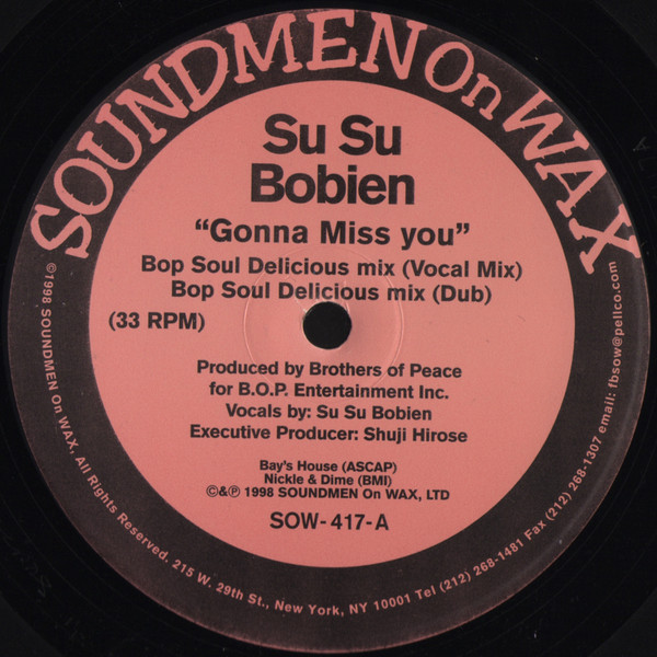 Su Su Bobien - Gonna Miss You