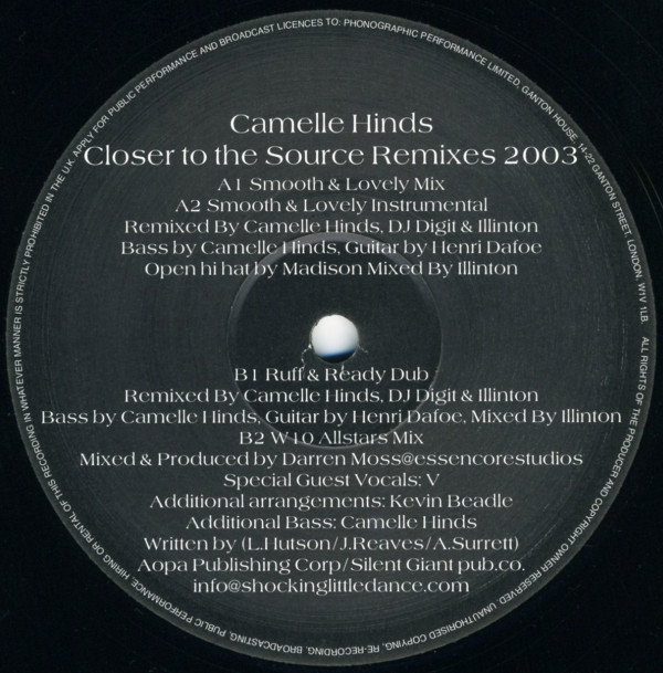 Camelle Hinds - Closer To The Source (Remixes 2003)