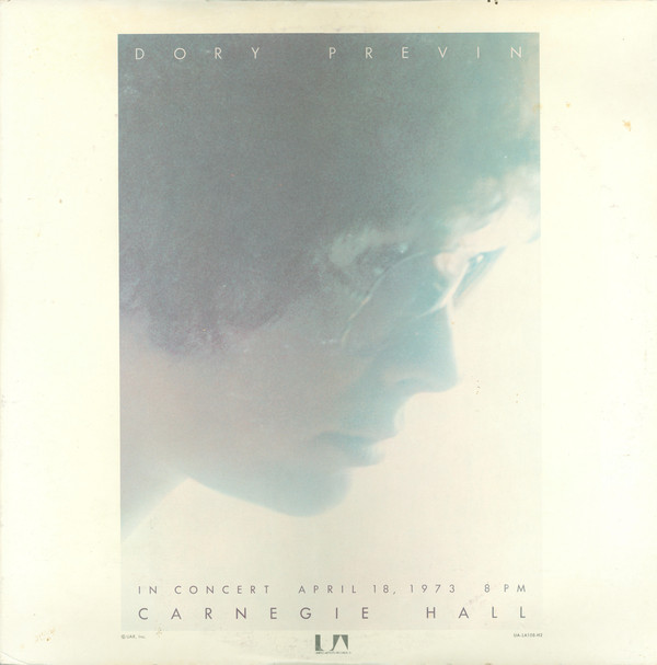 Dory Previn - Live At Carnegie Hall