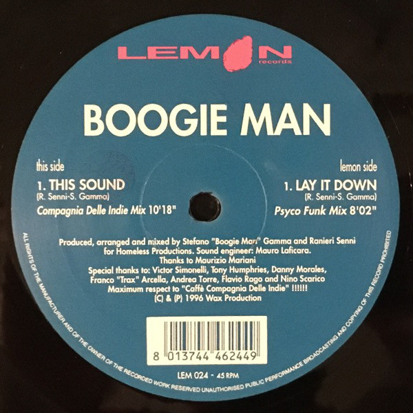 Boogie Man - This Sound / Lay It Down