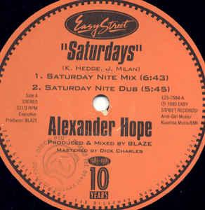 Alexander Hope - Saturdays
