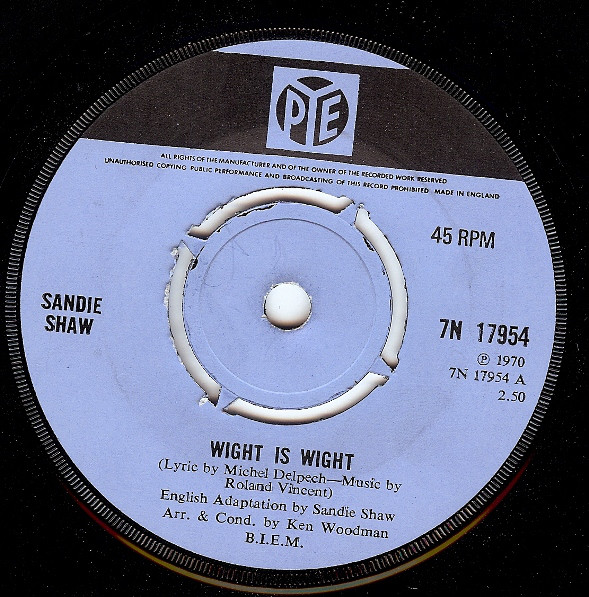 Sandie Shaw - Wight Is Wight