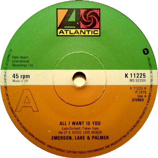 Emerson, Lake & Palmer - All I Want Is You