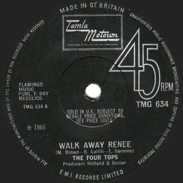 The Four Tops - Walk Away Renee