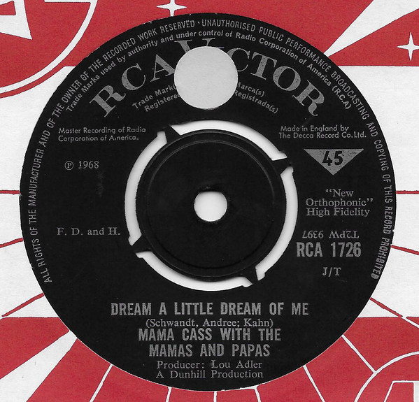 Mama Cass With The Mamas & The Papas - Dream A Little Dream Of Me