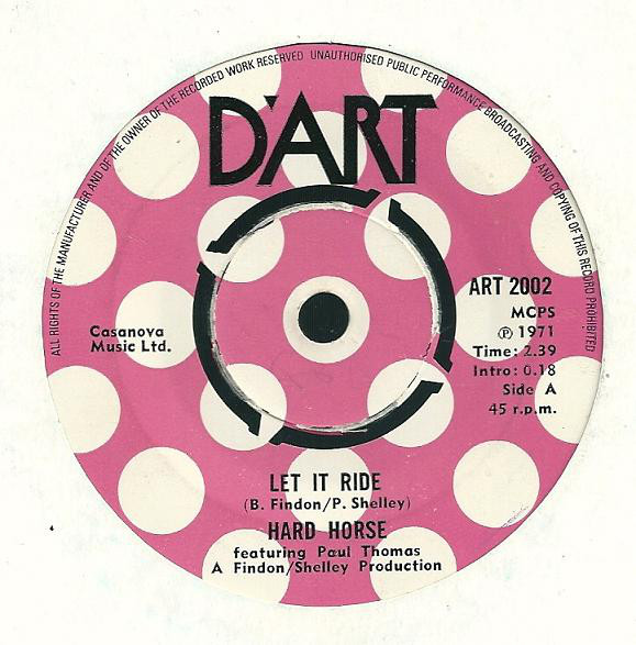 HARD HORSE FEATURING PAUL THOMAS - Let It Ride / Hang Old Freddy - 45T x 1