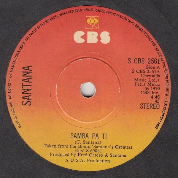 Santana - Samba Pa Ti / Incident At Neshabur