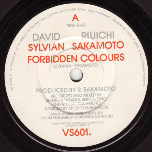 David Sylvian / Riuichi Sakamoto - Forbidden Colours