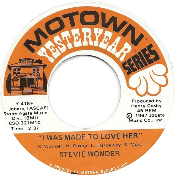 Stevie Wonder -  I Was Made To Love Her/ Shoo Be Doo Be Doo Da Day