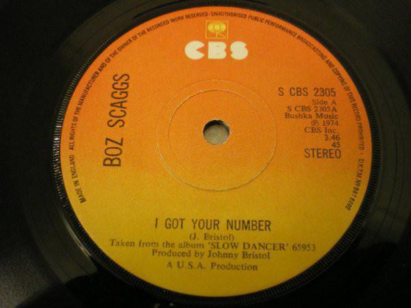 Boz Scaggs - I Got Your Number / Slow Dancer