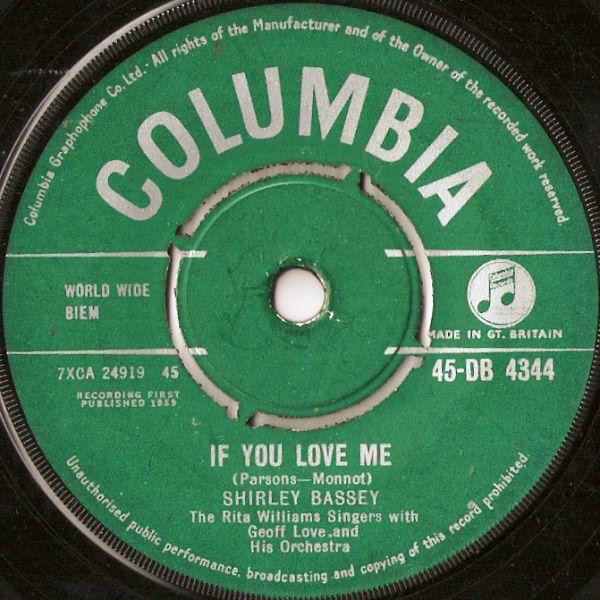 Shirley Bassey - If You Love Me
