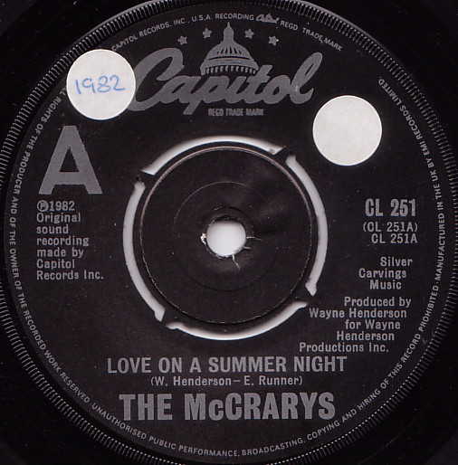 The McCrarys - Love On A Summer Night