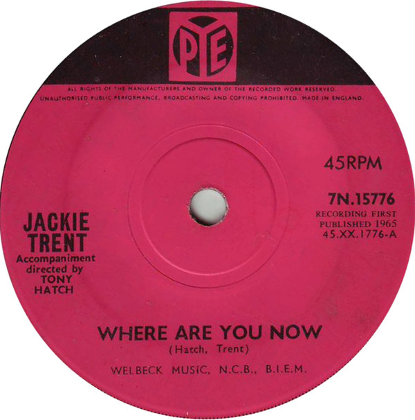 Jackie Trent -  Where Are You Now