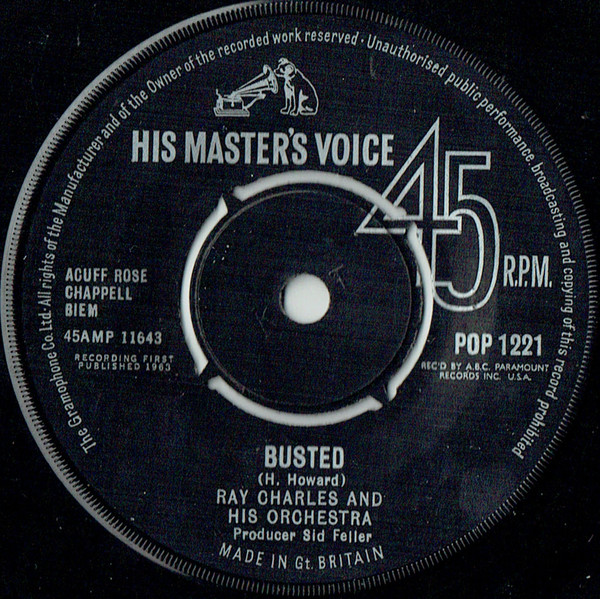 Ray Charles And His Orchestra / Ray Charles - Busted / Making Believe