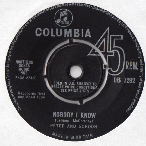 Peter And Gordon - Nobody I Know