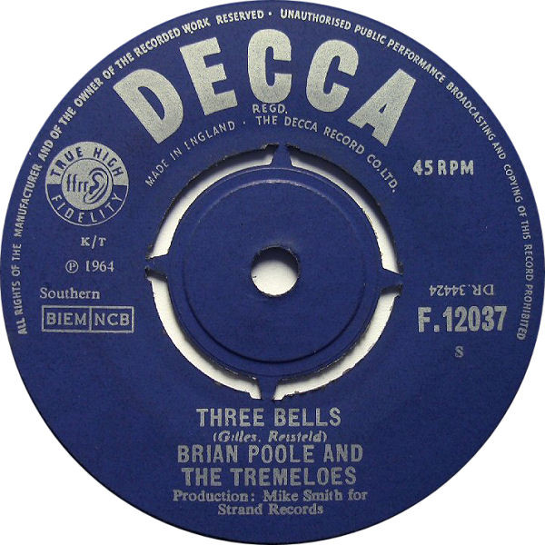 Brian Poole & The Tremeloes - Three Bells