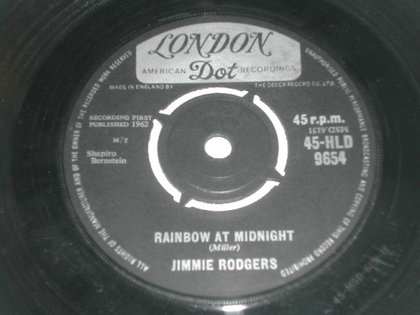 Jimmie Rodgers - Rainbow At Midnight / Rhumba Boogie