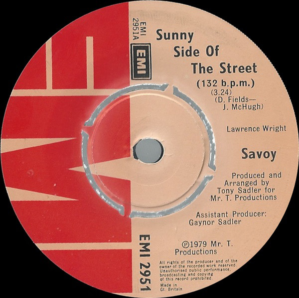 Savoy -  Sunny Side Of The Street