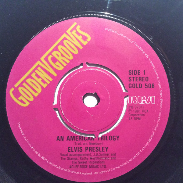 Elvis Presley - An American Trilogy / Suspicious Minds