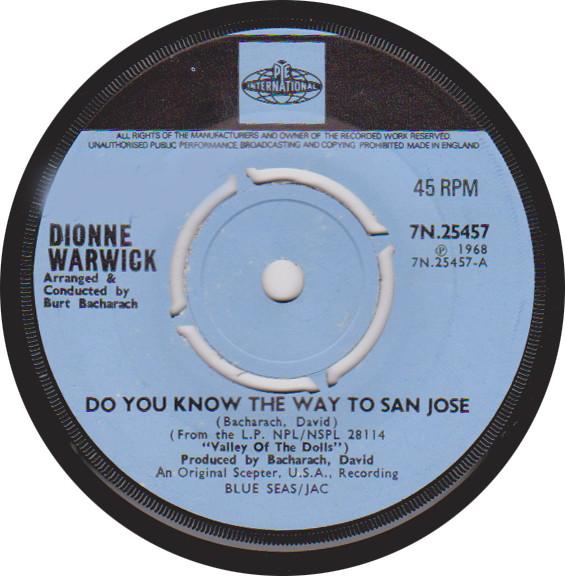Dionne Warwick - Do You Know The Way To San Jose