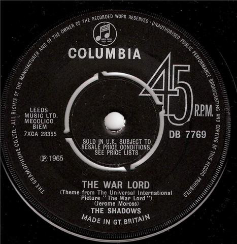The Shadows - The War Lord