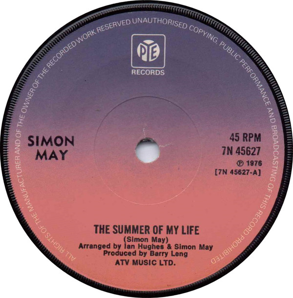 Simon May - The Summer Of My Life