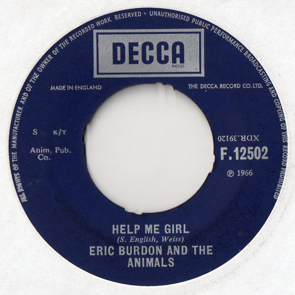 Eric Burdon And The Animals - Help Me Girl