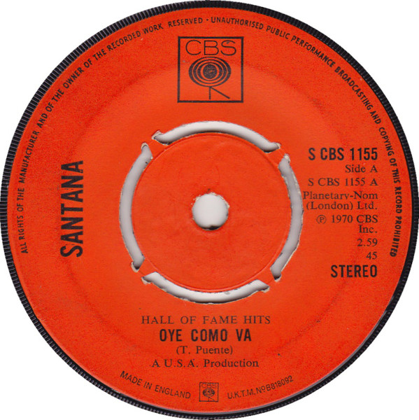Santana - Oye Como Va / Black Magic Woman