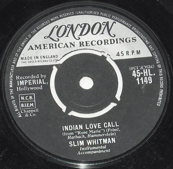 Slim Whitman - Indian Love Call / China Doll