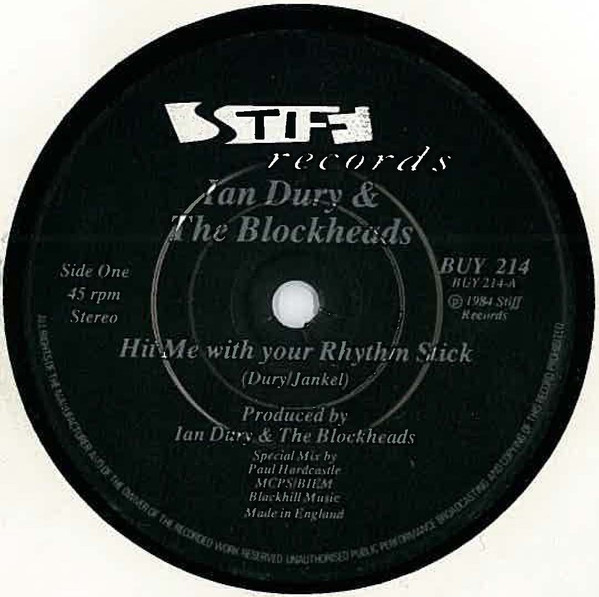 Ian Dury And The Blockheads - Hit Me With Your Rhythm Stick Paul Hardcastle Mix